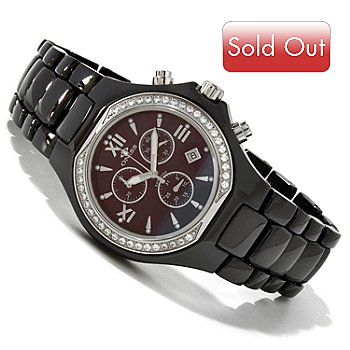 617-302 - Oniss Mid-Size Ceramica Collection Quartz Chronograph Bracelet Watch