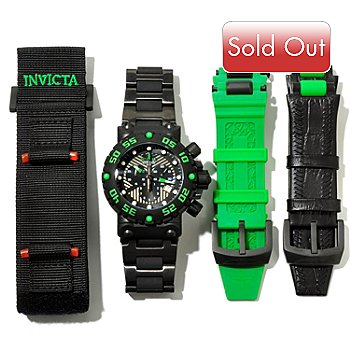 617-336 - Invicta Men's Subaqua Nitro Black Label Bracelet Watch w/ 3-Slot Dive Case