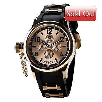 617-347 - Invicta Men's Russian Diver Quartz Stainless Steel Polyurethane Strap Watch