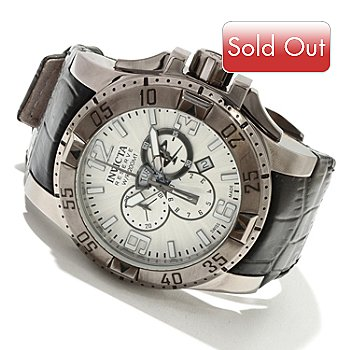 617-366 - Invicta Reserve Men's Excursion Elegant Edition Swiss Chronograph Leather Strap Watch