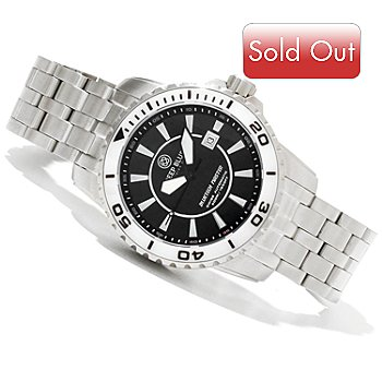 617-430 - Deep Blue Men's Bluetech Master Swiss Automatic Stainless Steel Bracelet Watch