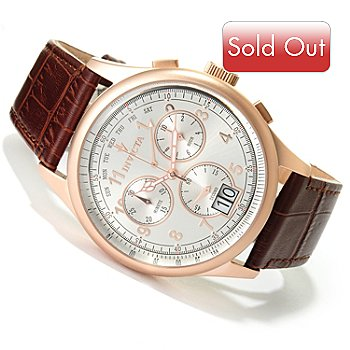 617-570 - Invicta Men's Vintage Collection Swiss Quartz Chronograph Leather Strap Watch