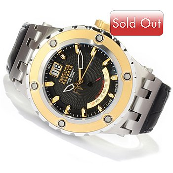 617-579 - Invicta Reserve Men's Specialty Subaqua Swiss Made Quartz Leather Strap Watch