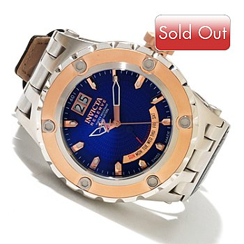 617-585 - Invicta Reserve Men's Specialty Subaqua Swiss Made Quartz Leather Strap Watch