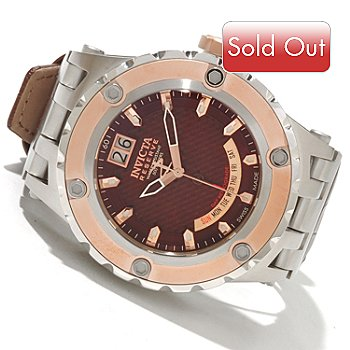 617-586 - Invicta Reserve Men's Specialty Subaqua Swiss Made Quartz Leather Strap Watch