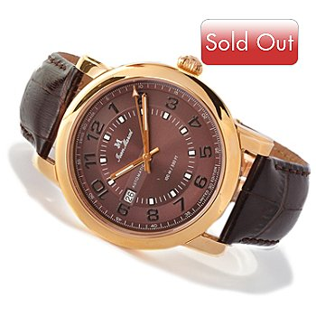 617-695 - Jean Marcel Men's Clarus Limited Edition Swiss Made Automatic Leather Strap Watch