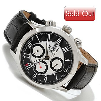 617-696 - Jean Marcel Men's Semper Limited Edition Swiss Made Automatic Leather Strap Watch