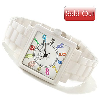 617-804 - Stührling Original Women's Manchester Quartz Ceramic Bracelet Watch