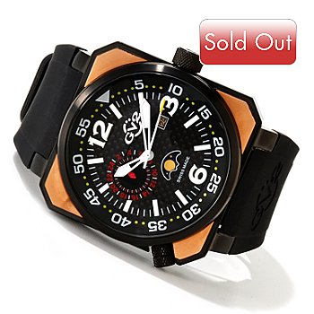 617-826 - GV2 by Gevril Men's XO Submarine Limited Edition Swiss Made Quartz Rubber Strap Watch