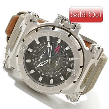 617-837 - Invicta Men's Coalition Forces Swiss Made Quartz GMT Strap Watch