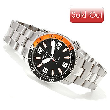 617-872 - Stührling Prestige Men's Regatta Cruiser Swiss Made Automatic Stainless Steel Bracelet Watch