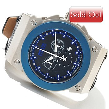 617-883 - Invicta Reserve Men's Akula Swiss Made Quartz Chronograph Leather Strap Watch