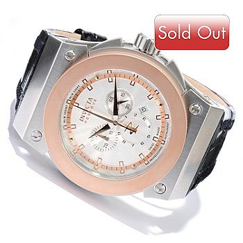 617-884 - Invicta Reserve Men's Akula Swiss Made Quartz Chronograph Leather Strap Watch