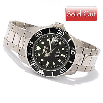 617-897 - Invicta Men's Pro Diver Titanium Automatic Bracelet Watch w/ 3-Slot Dive Case
