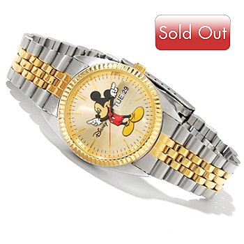 617-958 - Disney Men's or Women's Quartz Two-Tone Classic Link Bracelet Watch