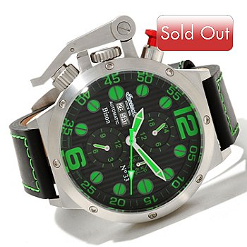 617-966 - Ingersoll Men's Bison Automatic 316L Stainless Steel Leather Strap Watch