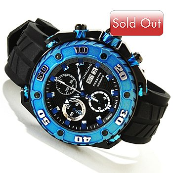 617-972 - Stuhrling Prestige Men's Maverick Swiss Valjoux 7750 Automatic Rubber Strap Watch