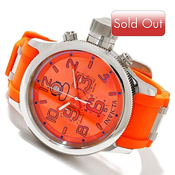 617-978 - Invicta Men's Russian Diver Quartz Chronograph Strap Watch w/ 3-Slot Dive Case