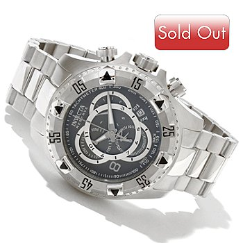 617-979 - Invicta Reserve Men's Excursion Swiss Chronograph Bracelet Watch w/ 3-Slot Dive Case