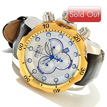 617-994 - Invicta Reserve Men's Venom Elegant Swiss Made Quartz Chronograph Leather Strap Watch