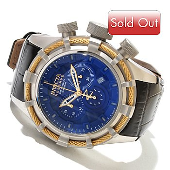 617-997 - Invicta Reserve Men's Bolt Sport Elegant Swiss Made Quartz Chronograph Leather Strap Watch