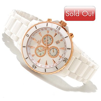 618-108 - Oniss Men's Quartz Chronograph Ceramic Bracelet Watch