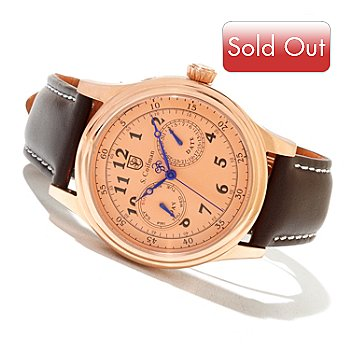 618-243 - S. Coifman Men's Quartz Stainless Steel Case Leather Strap Watch