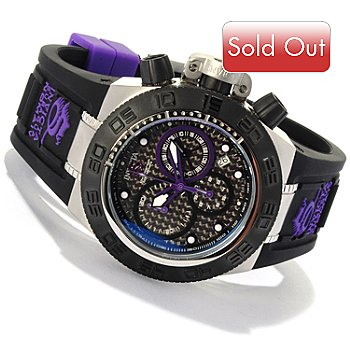 618-256 - Invicta Men's Subaqua Sport Quartz Chronograph Carbon Fiber Dial Silicone Strap Watch