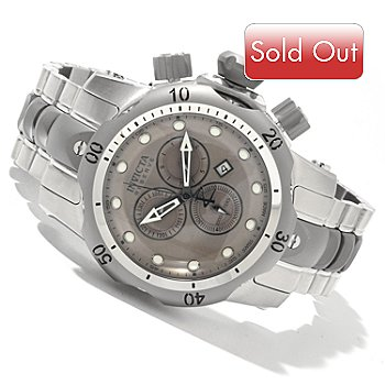618-340 - Invicta Reserve Mid-Size Venom Swiss Made Quartz Chronograph Stainless Steel Bracelet Watch