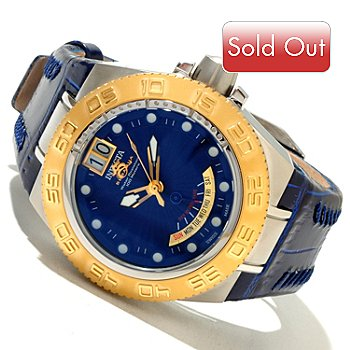 618-348 - Invicta Mid-Size Subaqua Sport Swiss Made Quartz Leather Strap Watch