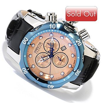 618-352 - Invicta Reserve Mid-Size Venom Swiss Made Quartz Chronograph Leather Strap Watch