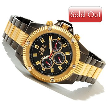 618-406 - Invicta Men's Specialty Sport Quartz GMT Bracelet Watch w/ 3-Slot Dive Case