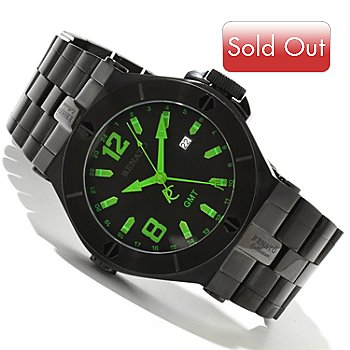 618-409 - Renato Men's Wilde-Beast Limited Edition Quartz GMT Stainless Steel Bracelet Watch