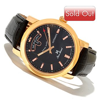 618-433 - Jean Marcel Men's Clarus Limited Edition Swiss Made Automatic Leather Strap Watch