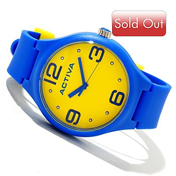 618-492 - Activa Men's Sport Quartz Polyurethane Strap Watch
