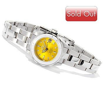618-495 - Invicta Women's Mini Pro Diver Quartz Sunray Dial Stainless Steel Bracelet Watch