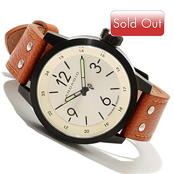 618-522 - Android Men's Antiforce 3 Quartz 316L Stainless Steel Leather Strap Watch