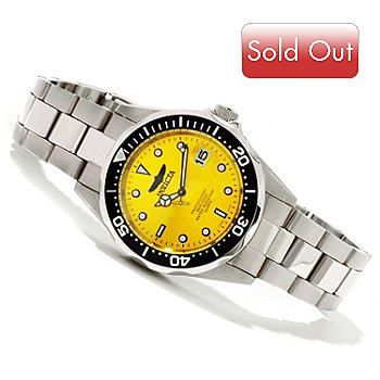 618-527 - Invicta Men's Pro Diver Quartz Sunray Dial Stainless Steel Bracelet Watch