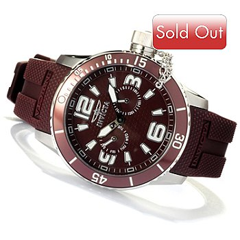 618-530 - Invicta Men's Corduba Diver Quartz Polyurethane Strap Watch w/ 3-Slot Dive Case