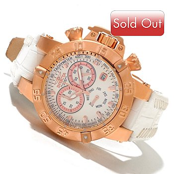 618-570 - Invicta Women's Subaqua Noma III Quartz Chronograph Leather Strap Watch