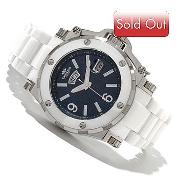 618-611 - Oniss Men's Quartz Stainless Steel & Ceramic Bracelet Watch