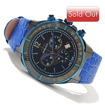 618-642 - Versace Men's DV One Swiss Made Quartz Chronograph Ceramic Case Leather Strap Watch