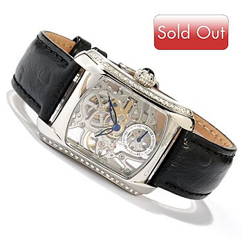 618-648 - Constantin Weisz Women's Mechanical Strap Watch Made w/ Swarovski® Elements