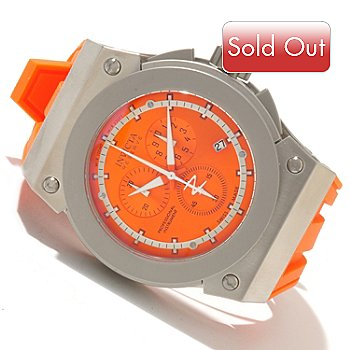 618-656 - Invicta Reserve Men's Akula Swiss Quartz Chronograph Silicone Strap Watch w/ 3-Slot Dive Case