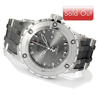 618-660 - Invicta Reserve Men's Specialty Subaqua Swiss Made Quartz GMT Strap Watch w/ 8-Slot Dive Case