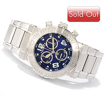 618-672 - Invicta Reserve Men's Ocean Reef Swiss Quartz Chronograph Bracelet Watch w/ 3-Slot Dive Case