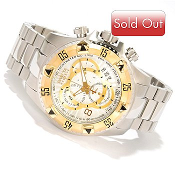 618-775 - Invicta Reserve Men's Excursion Swiss Made Quartz Chronograph Stainless Steel Bracelet Watch