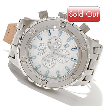 618-779 - Invicta Reserve Men's Specialty Subaqua Swiss Made Quartz Chronograph Leather Strap Watch