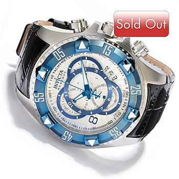 618-782 - Invicta Reserve Men's Excursion Swiss Quartz Chronograph Leather Strap Watch