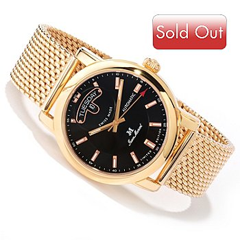 618-794 - Jean Marcel Men's Clarus Limited Edition Swiss Made Automatic Rose-tone Bracelet Watch